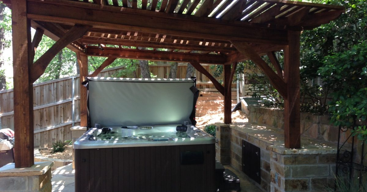 chill out in your hot tub with patio shade